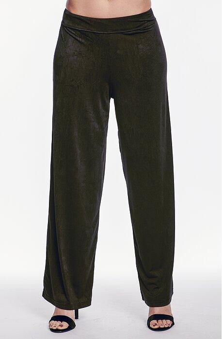 Široké čierne dámske nohavice 326