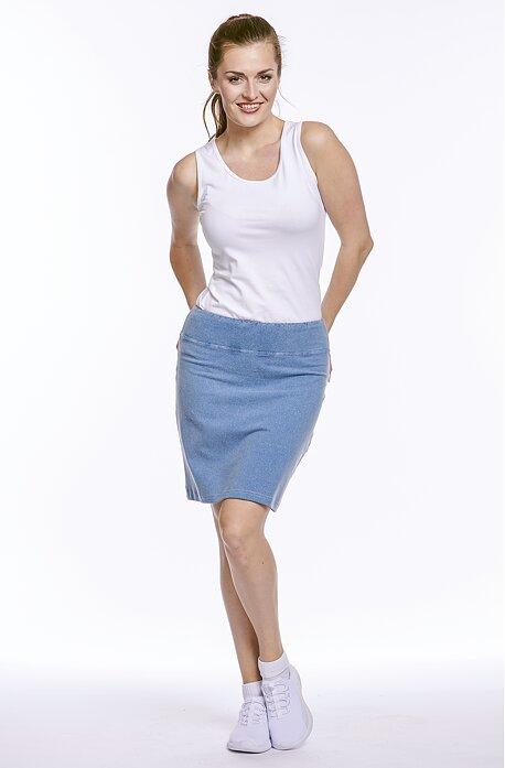 Rovná riflová dámska sukňa 176