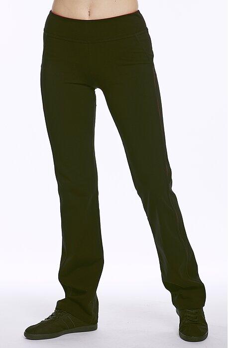 Dlouhé sportovní dámské kalhoty s jemným lemem 393