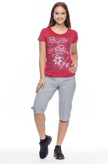 Funkčné šedé dámske 3/4 nohavice s vreckami na zips 289