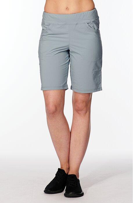 Funkčné šedé dámske šortky s vreckami 213