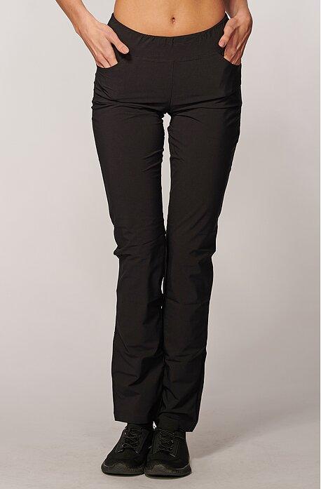 Dlhé čierne dámske nohavice s úzkymi nohavicami 377 LNT