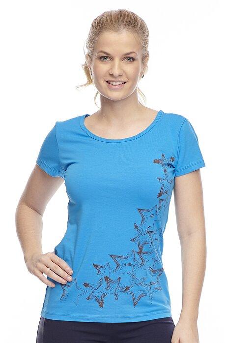 Bavlnené modré tričko s krátkym rukávom 43