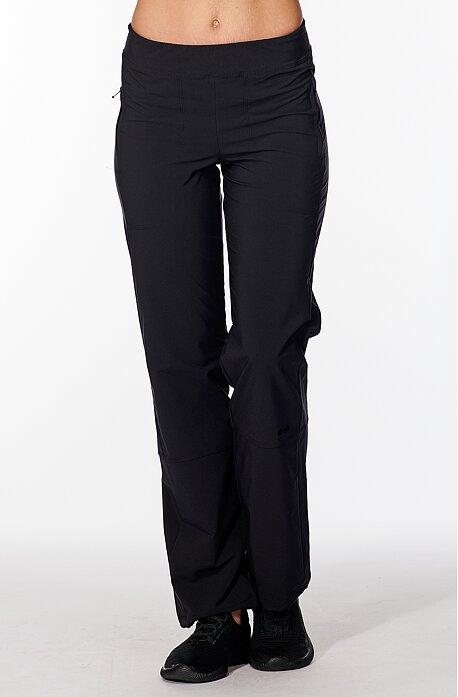 Funkčné čierne dámske nohavice s vreckami na zips 379