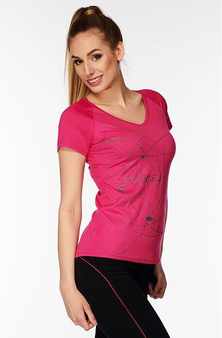 Športové ružové dámske tričko s potlačou 58