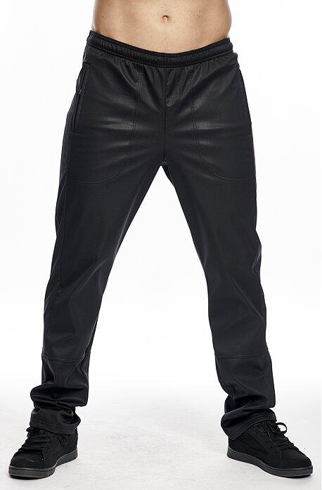 Softshellové čierne pánske nohavice s vreckami na zips 977