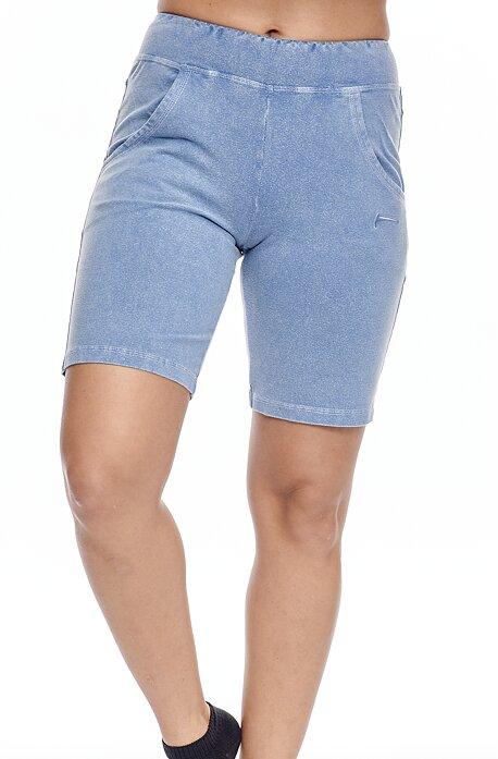 Dlhšie riflové dámske šortky s vreckami 215