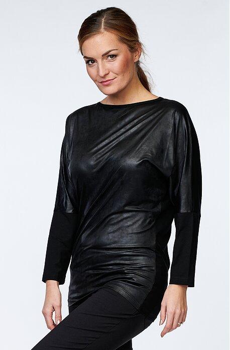 Kimonová čierna dámska blúzka 7705