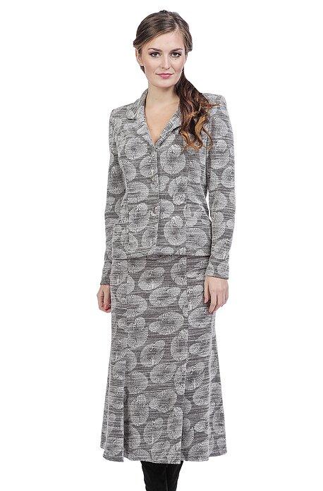 Dlhšia rozšírená šedá dámska sukňa 141