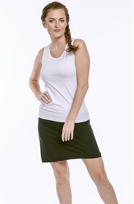 Funkčná rovná čierna dámska sukňa 108