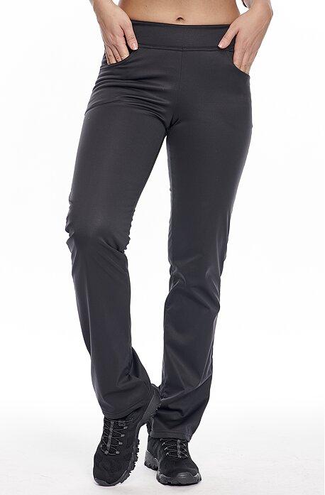 Úzke softshellové čierne dámske nohavice s vreckami 937
