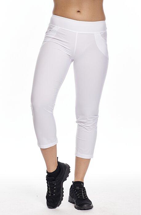 Funkčné biele dámske 7/8 nohavice s vreckami 246