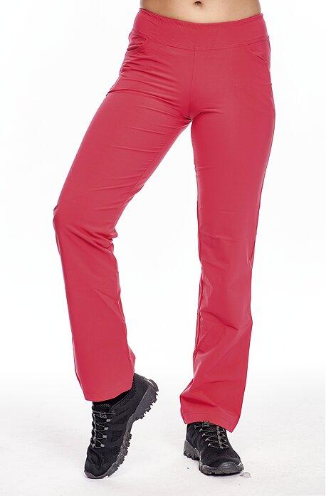 Letné malinové dlhé dámske nohavice s vreckami 303