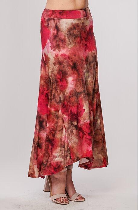 Dlouhá barevná květinová dámská sukně 144