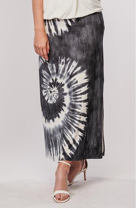 Letní dlouhá šedá batikovaná dámská sukně 154