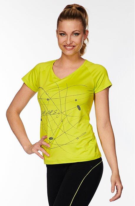 Športové žltozelené dámske tričko s potlačou 58