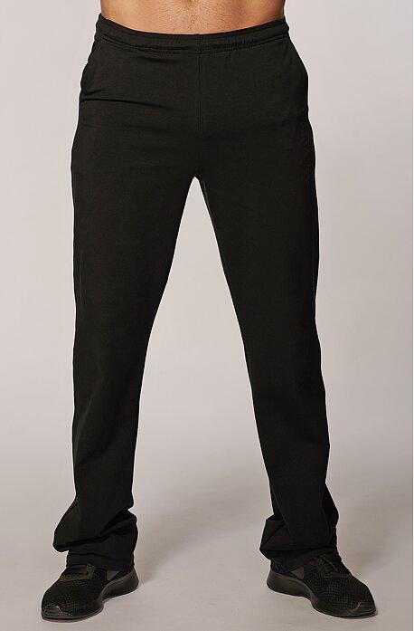 Užšie bavlnené čierne pánske nohavice s potlačou a vreckami 425